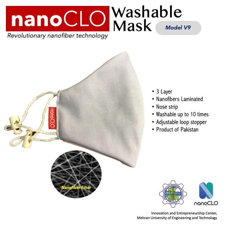 Washable 10 times, anti-bacterial, pollution protection and water repelling